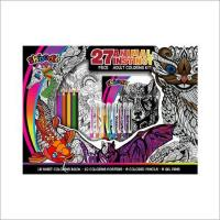 Quality Animal Instinct 27pc. Adult Coloring Kit for sale