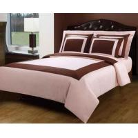 Quality Blush Pink And Chocolate Hotel Egyptian Cotton Down Alternative Bed In A Bag for sale