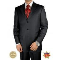 Italian Black Men Suits Merino Wool Hand Tailored Suit