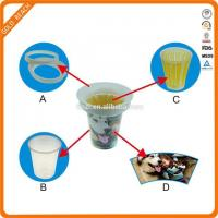 Beverage cup cooler, ice cup for beer