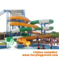 Quality fiberglass spiral adult slides aqua theme park tubes equipment amusement rides price for sale for sale