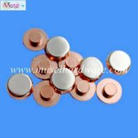 Quality Precision stamping parts high anti-welding silver alloy contacts for household appliance for sale