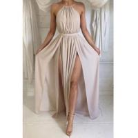 Quality Halter Front Spilt Backless Evening Gowns Sexy 2016 Summer Party DressesItem Code: BA2735 for sale