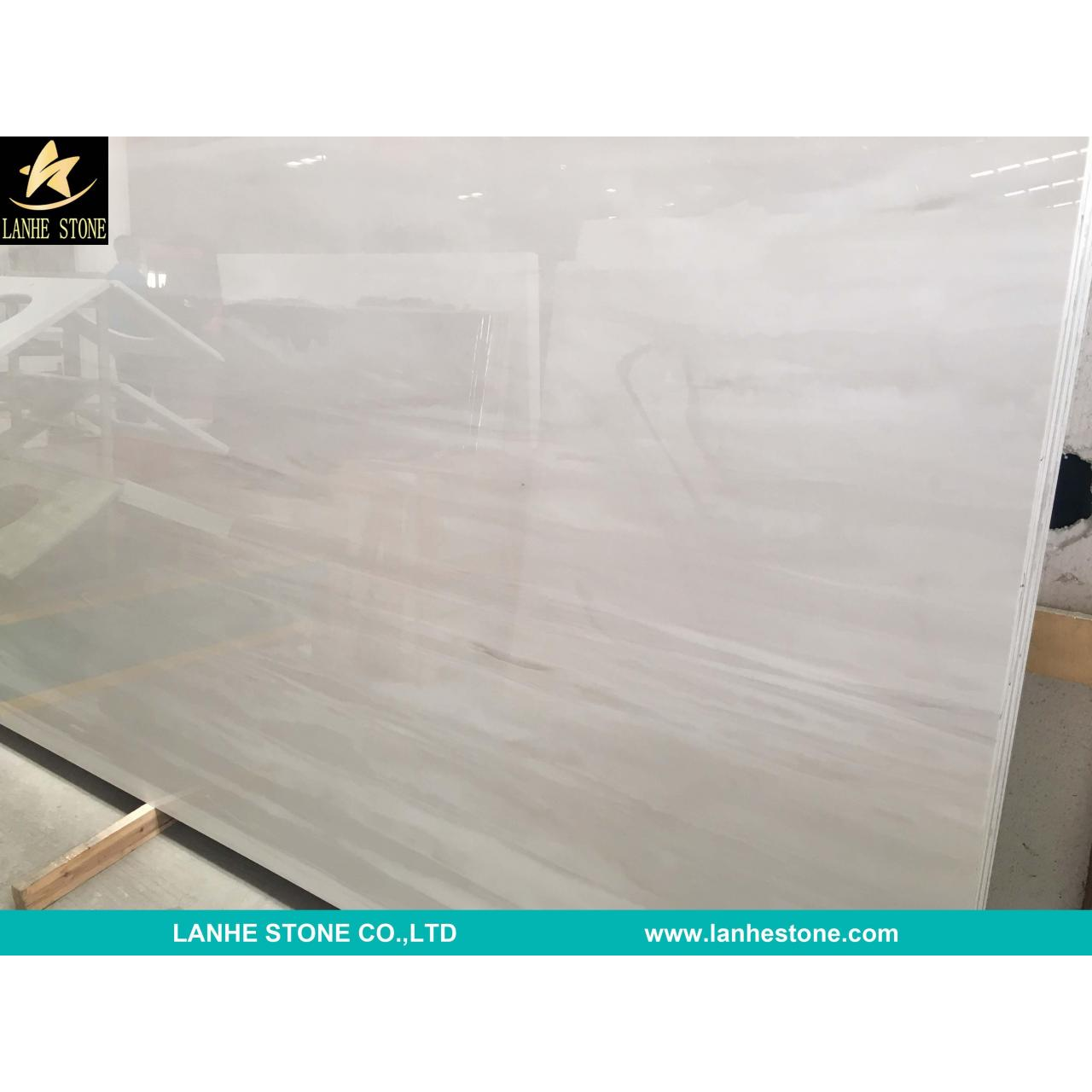 Quality White Wood Nano Micro Crystallized Stone Slab China White Micro Crystal Glass Stone Slabs Tiles for sale