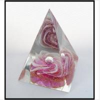 Quality Handmade Art Glass Pyramid Paperweight Gift for sale