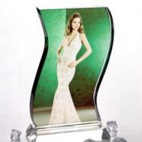 Quality Wave Crystal Photo Personalised 3D Gift Idea for sale