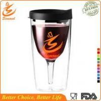 Quality 16oz wholesale double wall plastic tumbler with straw for sale