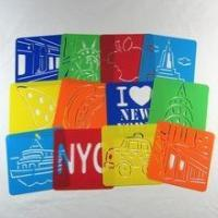 Quality Non-toxic kids pp plastic stencil letter drawing plate for sale