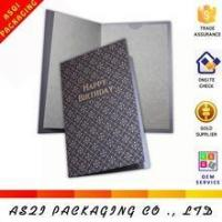 Quality high end birthday card, hot stamping birthday card, luxury business birthday card for sale