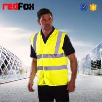 quilted security red safety vest