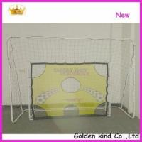 Quality Factory sale inflatable soccer goal post with shooting hole for sale