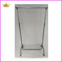 Quality Cloth rack supplier Folable metal single bar laundry drying rack for sale