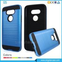 Quality Newest Product PC+TPU Hair Line Shockproof Hybrid Phone Case For LG G5 H830 for sale