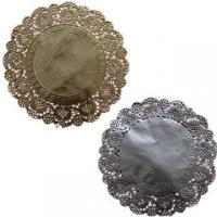 Wholesale Greaseproof FDA Colored Lace Round Gold/Silver Paper Doilies