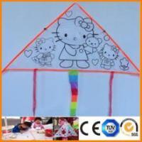 Quality kids painting toy diy painting hello kitty easy flying kite for sale