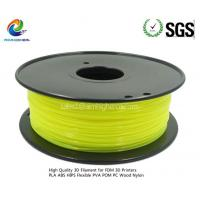 Quality ABS filament Transparent Yellow color 1.75/3.0mm for sale