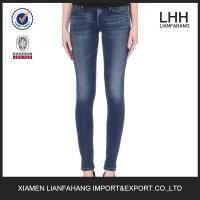 Europe style plain skinny jeans for women
