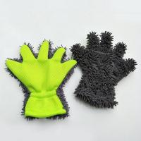 Quality Multipurpose Microfiber Household Cleaning Removable chenille Finger wash Gloves for sale